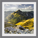 Mountains and Valley of the Lechtal Alps in Tyrol Framed Photographic Art Print East Urban Home Size: 30cm H x 30cm W, Frame Options: Matt grey