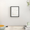 'Pocket Billiard Ball Triangle 1942' Framed Graphic Art in Gold East Urban Home Size: 31 cm H x 25 cm W
