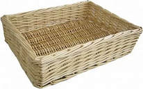 Straight-Sided Willow Basket Lily Manor Size: 6cm H x 31cm W x 21cm D