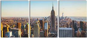 Empire State Building 3-Piece Photograph Set on Canvas East Urban Home