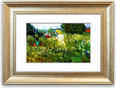 'Marguerite Gachet in the Garden' By Vincent Van Gogh Framed Painting Print East Urban Home Size: 40 cm H x 50 cm W, Frame Options: Silver