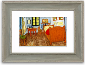 'Vincent Van Gogh Bedroom Cornwall' Framed Photographic Print East Urban Home Size: 93 cm H x 70 cm W, Frame Options: Blue Distressed