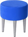 Pastel Dressing Table Stool Happy Barok Seat colour: Blue