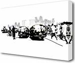 Boy Street Racers - Wrapped Canvas Drawing Print East Urban Home Size: 50.8 cm H x 81.28 cm W