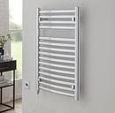Ana  Vertical Curved Towel Rail Belfry Heating Size: 80cm H x 50cm W x 9.6cm D