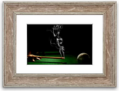 'Smoking Cue Cornwall' Framed Photographic Print East Urban Home Size: 93 cm H x 126 cm W, Frame Options: Walnut
