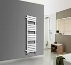Ina Vertical Flat Panel Towel Rail Belfry Heating Size: H 160cm x W 45cm x D 6.4cm, Finish: White