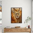 Beautiful Mountain Lion Floater Frame Graphic Art Print on Paper East Urban Home Größe: 100 cm H x 70 cm B