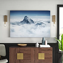 The Alps Above the Clouds - Wrapped Canvas Graphic Art Print East Urban Home Size: 90cm L x 60cm W x 2 D
