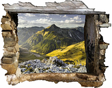 Mountains and Valley of the Lechtaler Alps in Tyrol Wall Sticker