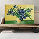 'Iris Irises Flowers (2)' by Vincent van Gogh Painting Print on Canvas Big Box Art Size: 40cm H x 60cm W