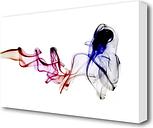 'Rainbow Silk Smoke' Graphic Art on Wrapped Canvas East Urban Home Size: 50.8 cm H x 81.3 cm W