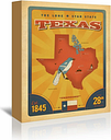 State Pride Texas Vintage by Joel Anderson - Wrapped Canvas Advertisement Print