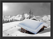 Mountain Huts in the Alps Framed Print Poster