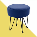 Devansh Dressing Table Stool Hashtag Home Seat Colour: Blue