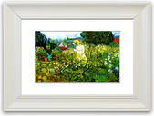 'Marguerite Gachet in the Garden' By Vincent Van Gogh Framed Painting Print East Urban Home Size: 40 cm H x 50 cm W, Frame Options: Matte White