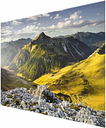 Mountains and Valley of the Lechtal Alps in Tyrol - Photograph Print on Glass