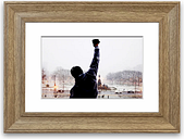 'Rocky Balboa on the Steps Cornwall' - Picture Frame Photograph Print on Paper
