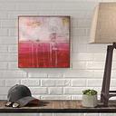 'Crimson' Acrylic Painting Print on Canvas East Urban Home Size: 102 cm H x 102 cm W