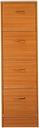 Caulkins 4 Drawer Filing Cabinet Rebrilliant Colour: Cherry