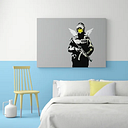 'Smiley Face Angel' Graphic Art Print on Wrapped Canvas East Urban Home Size: 101.6 cm H x 142.2 cm W