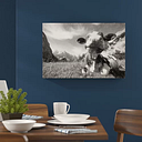 Cow in the Alps Painting Print on Canvas East Urban Home Size: 60cm H x 80cm W