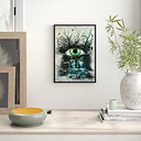 Eye Connected to Nature Framed Graphic Art Print East Urban Home Size: 100 cm H x 70 cm W