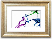 'Multi Colour Smoke' - Picture Frame Graphic Art Print on Paper East Urban Home Size: 93cm H x 126cm W x 1cm D, Frame Option: Silver