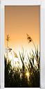 Reed Bank at Dusk Door Sticker East Urban Home