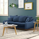 Tenley 3 Seater Sofa Zipcode Design Upholstery Colour: Blue