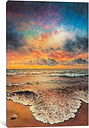'Wave After Wave' Art Print on Canvas East Urban Home