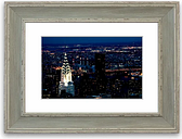 'The Chrysler Building at Night' Framed Photograph East Urban Home Size: 93 cm H x 70 cm W, Frame Options: Blue