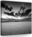 Beach Photographic Art Print on Wrapped Canvas in Black/White/Grey East Urban Home