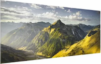'Mountains and Valley of the Lechtal Alps in Tyrol' Photograph on Glass East Urban Home