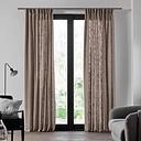 Bellevue Pencil Pleat Semi-Sheer Single Curtain Madura Colour: Dark Grey, Panel Size: 145 W x 280 D cm