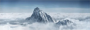 The Alps Above the Clouds Photographic Print on Canvas East Urban Home Size: 150cm L x 50cm W