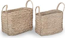 Rectangular Wicker 2 Piece Basket Set Lily Manor