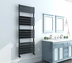 Ina Vertical Flat Panel Towel Rail Belfry Heating Size: H 160cm x W 45cm x D 6.4cm, Finish: Anthracite