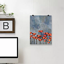Watercolour Poppies by Grab My Art - Unframed Painting Print on Paper East Urban Home Size: 61cm H x 46cm W x 0.3cm D