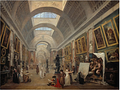 Development of the Grand Gallery of the Louvre by Hubert Robert - Wrapped Canvas Graphic Art Print
