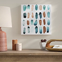 Drops of Serenity Copper - Wrapped Canvas Graphic Art Print East Urban Home Size: 109cm H x 109cm W x 4cm D