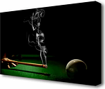 'Smoking Cue' Graphic Art Print on Canvas East Urban Home Size: 81.3 cm H x 121.9 cm W