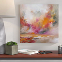 'Burst' Graphic Art Print on Canvas Mercury Row Size: 45.72cm H x 45.72cm W x 1.91cm D