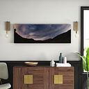 Milky Way Above the Alps Framed Photographic Art Print on Canvas