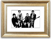 'Oasis with there Instruments Cornwall' - Picture Frame Photograph Print on Paper East Urban Home Size: 93cm H x 126cm W x 1cm D, Frame Option: Silver
