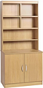 Kingston 2 Door Storage Cabinet with Hutch Gracie Oaks Finish: Classic Oak