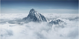 The Alps Above the Clouds - Wrapped Canvas Graphic Art Print