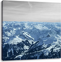 Imposing Alps with Snow Peaks Photographic Print on Canvas East Urban Home