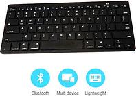Ultra-Slim 78-Key Bluetooth Keyboard for PC, Mac and Mobile Phones - Black