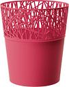 Osłonka z koronkowym wykończeniem, ażurowa City - 11,5 cm - malinowa